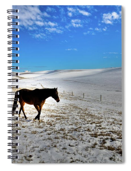 Snow On The Palouse Spiral Notebook