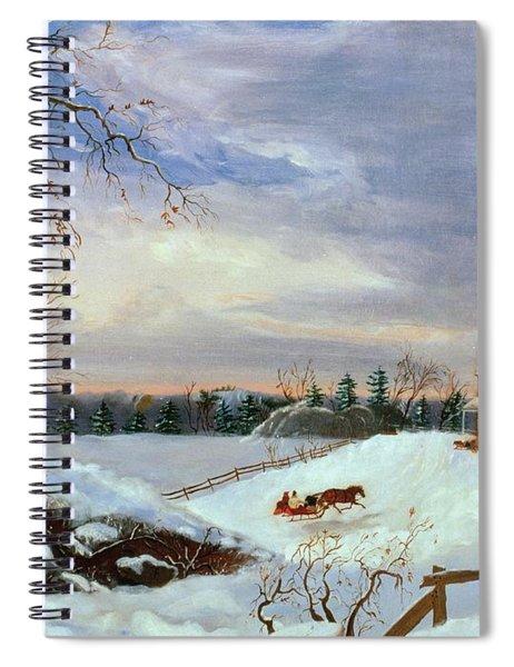 Snow Scene In New England Spiral Notebook