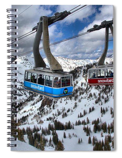 Snowbird Hidden Peak Trams Spiral Notebook