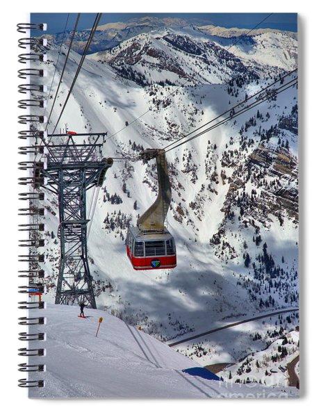 Snowbird Tram Portrait Spiral Notebook