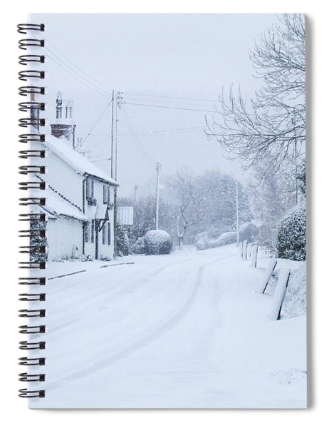 Snowfall At Potter Brompton Spiral Notebook