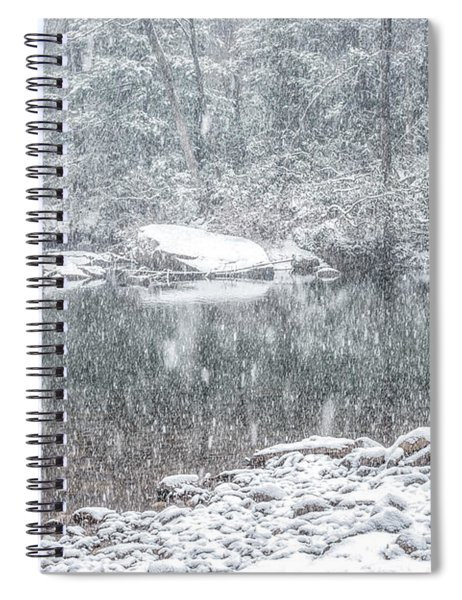 Snowfall On Williams River  Spiral Notebook