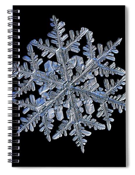 Snowflake Macro Photo - 13 February 2017 - 3 Black Spiral Notebook