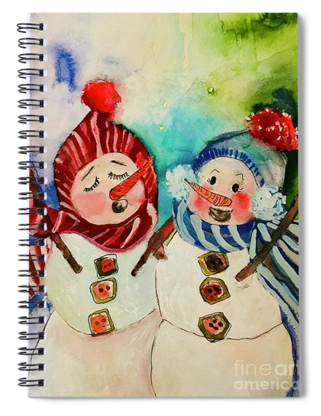 Snowflakes Collection Spiral Notebook