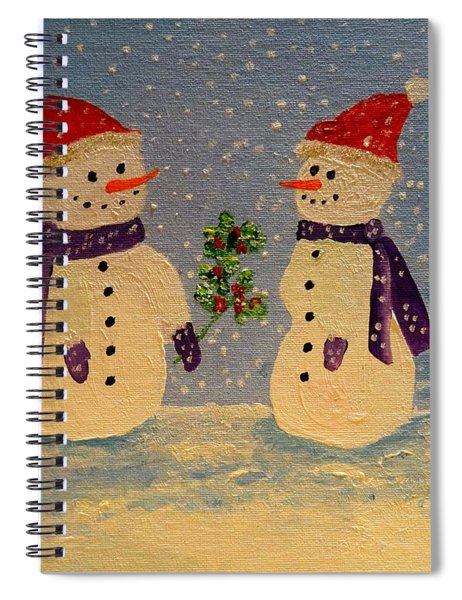 Snow-people At Christmas Spiral Notebook