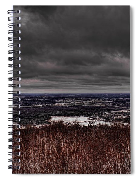 Snowstorm Clouds Over Rib Mountain State Park Spiral Notebook