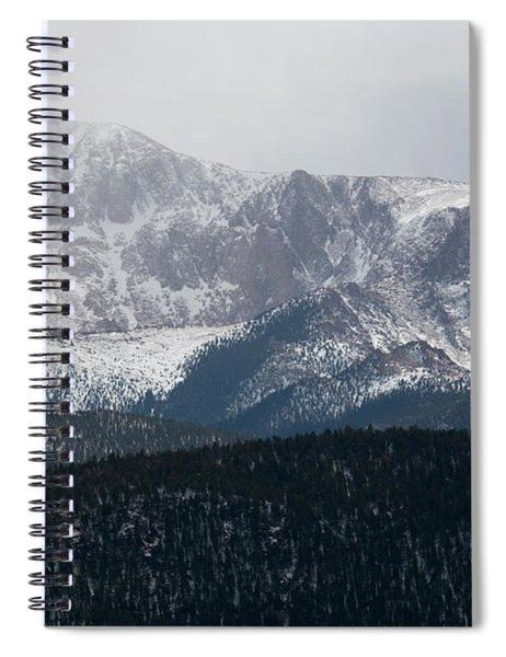 Snowstorm On Pikes Peak Spiral Notebook
