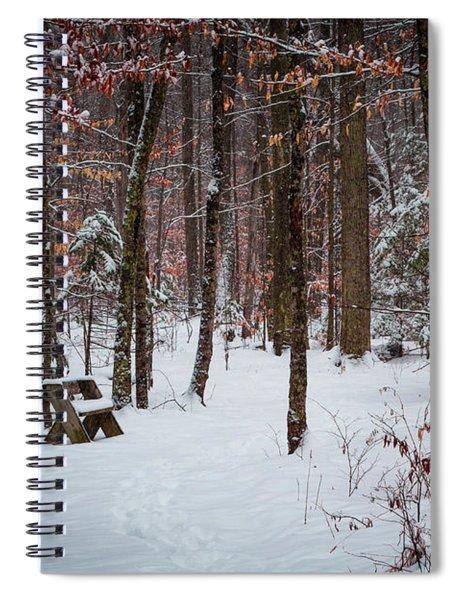 Snowy Bench Spiral Notebook