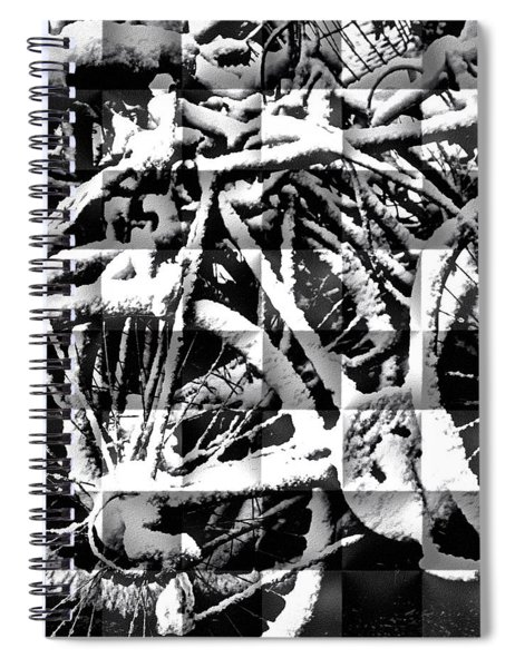 Snowy Bike Spiral Notebook