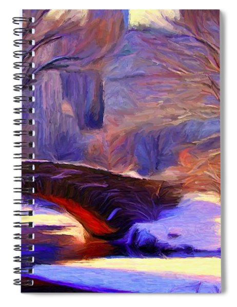Snowy Central Park Spiral Notebook