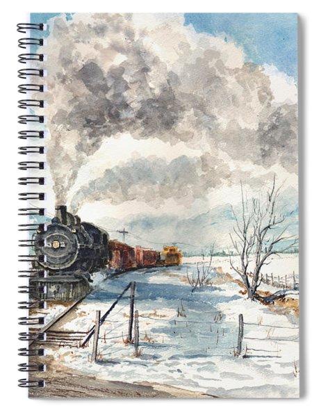 Snowy Crossing Spiral Notebook