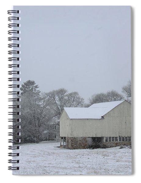 Winter White Farm Spiral Notebook
