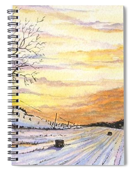 Snowy Farm Spiral Notebook