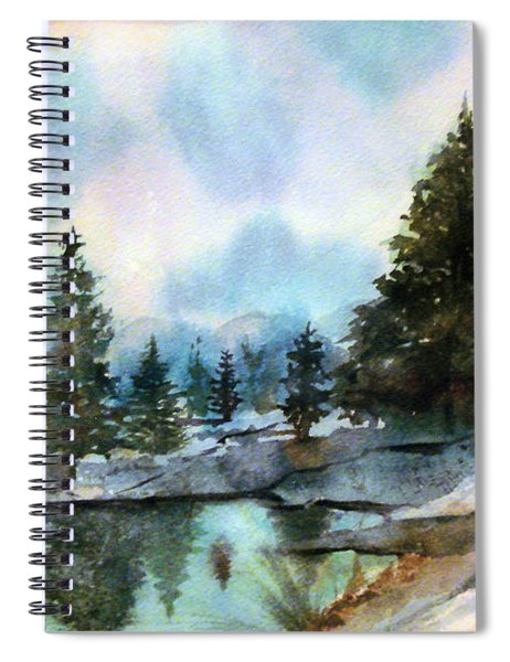 Snowy Lake Reflections Spiral Notebook