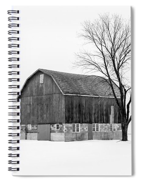 Snowy Little Barn Spiral Notebook