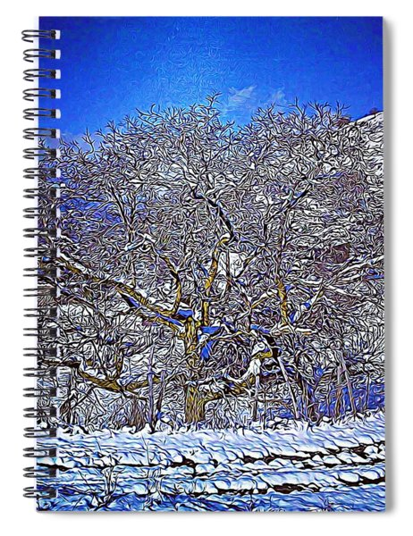 Snowy Spiral Notebook