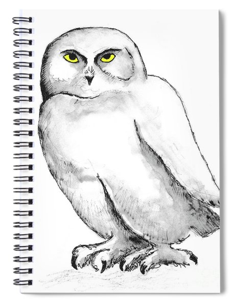 Snowy Owl 1 Spiral Notebook