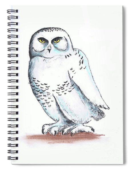 Snowy Owl Sketch 2 Spiral Notebook