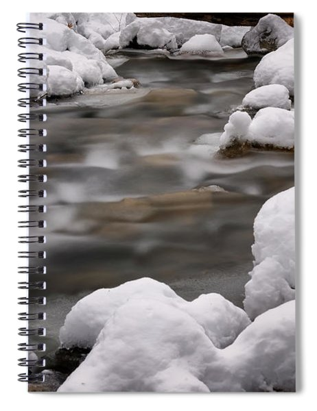 Snowy Stickney Brook Spiral Notebook