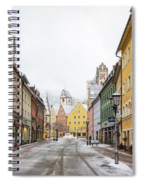 Snowy Street In Fussen Spiral Notebook