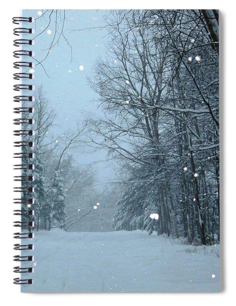Snowy Street Spiral Notebook