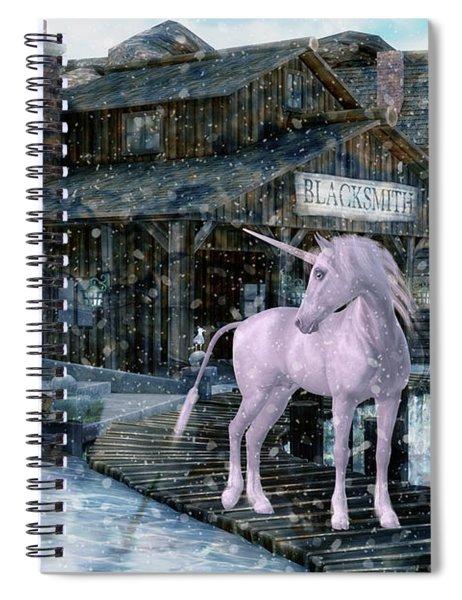 Snowy Unicorn Spiral Notebook