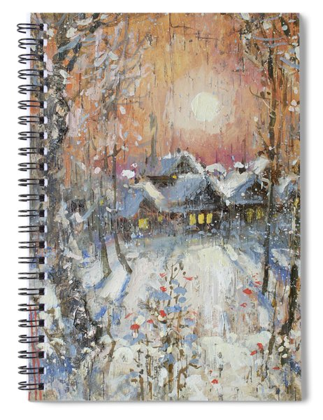 Snowy Village Spiral Notebook