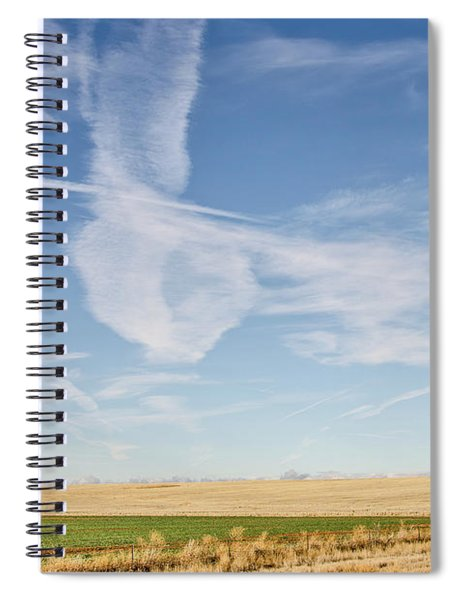 So Many Clouds And Contrails Spiral Notebook