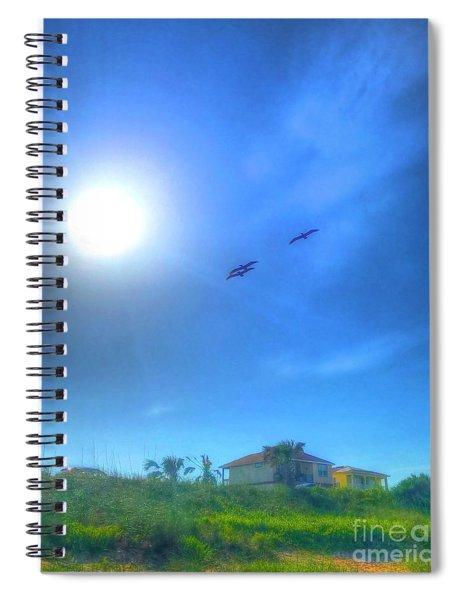 Soar Into The Light Spiral Notebook