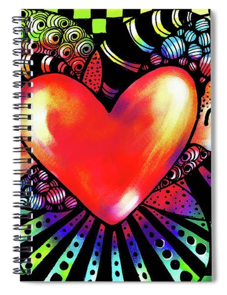 Soaring Heart Coloration Spiral Notebook