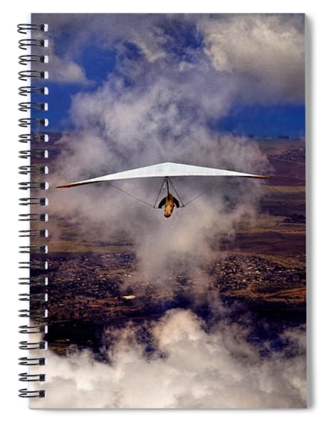 Soaring Through The Clouds Spiral Notebook