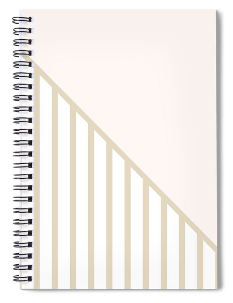 Soft Blush And Champagne Stripe Triangles Spiral Notebook