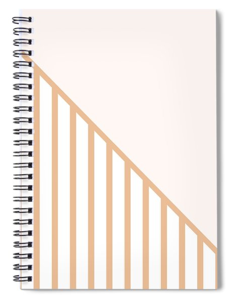 Soft Blush And Coral Stripe Triangles Spiral Notebook