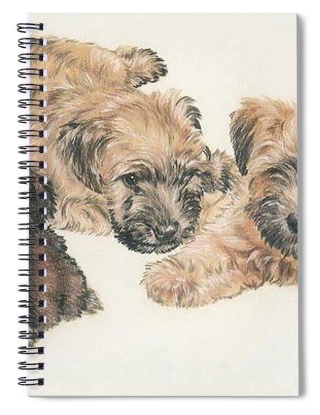 Soft-coated Wheaten Terrier Puppies Spiral Notebook