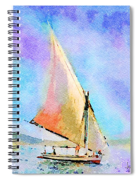 Soft Evening Sail Spiral Notebook