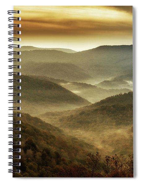 Soft Morning In The Mountains Spiral Notebook
