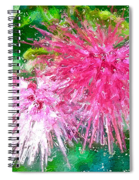 Soft Pink Flower Spiral Notebook