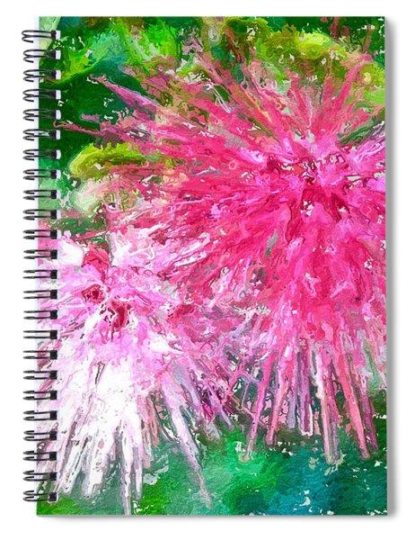 Soft Pink Flower Spiral Notebook