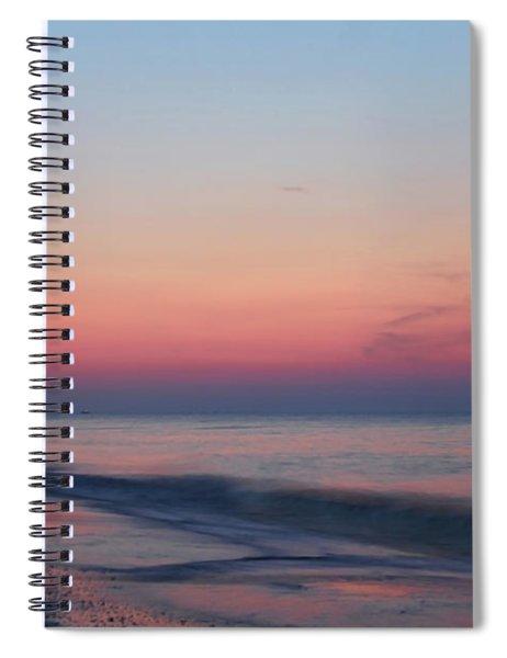 Soft Pink Sunrise Spiral Notebook
