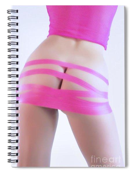 Soft Pink Tape Spiral Notebook