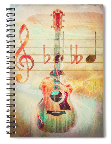 Softly She Plays, Music Is Everything  Spiral Notebook