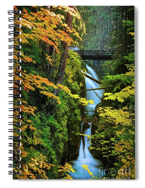 Sol Duc Falls In Autumn Spiral Notebook