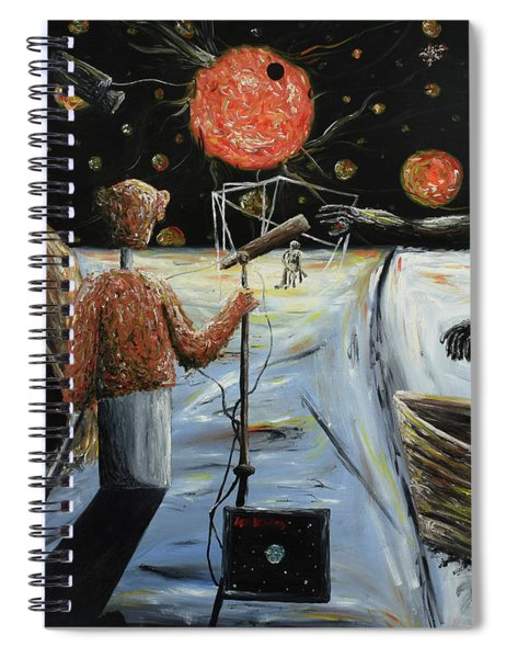 Solar Broadcast -transition- Spiral Notebook