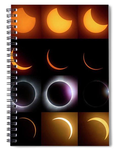 Solar Eclipse - August 21 2017 Spiral Notebook