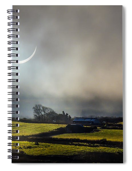 Solar Eclipse Over County Clare Countryside Spiral Notebook