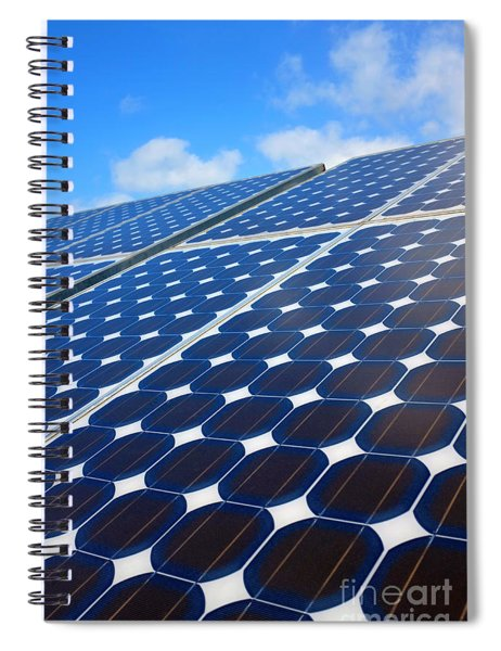 Solar Pannel Spiral Notebook