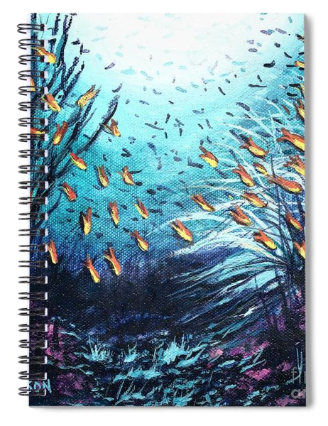 Soldier Fish And Coral  Spiral Notebook