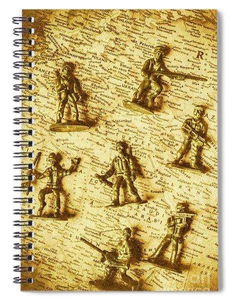 Soldiers And Battle Maps Spiral Notebook