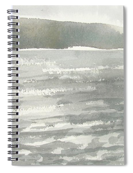 Soldis Over Glittrande Fjord - Sunlit Haze Over Glittering Water_0023 76x48cm Spiral Notebook
