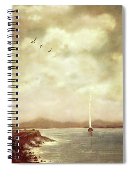 Solitary Sailor Spiral Notebook